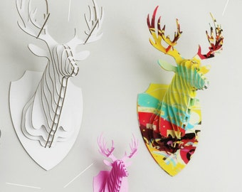 moose head template cutting file faux taxidermy laser etsy