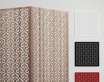 ISTANBUL SCREEN PANEL Template Islamic geometry room divider plans Arabic designs arabesques patterns wood working wall panel plasma cut