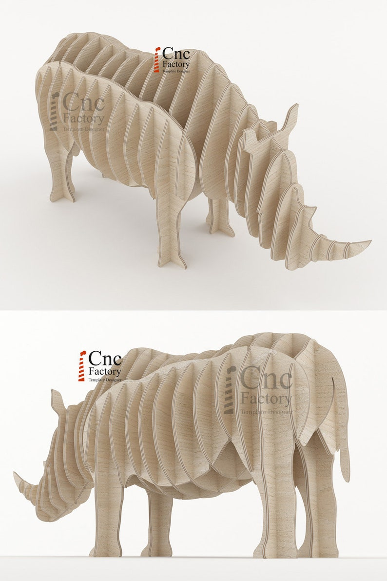RHINO DECO- Rhinocero Shaped Desk Organizer - Templates Customizable Rhino  Toy - Instant Download - Safari Animals