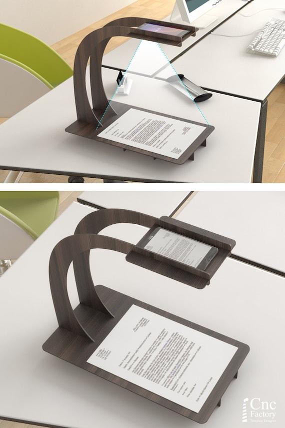 phone scanner stand laser cutting template plans wooden etsy. Black Bedroom Furniture Sets. Home Design Ideas