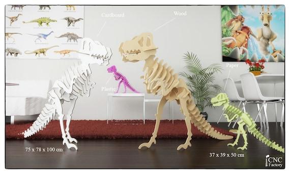 tyrannosaurus rex puzzle cnc template laser cutting file etsy