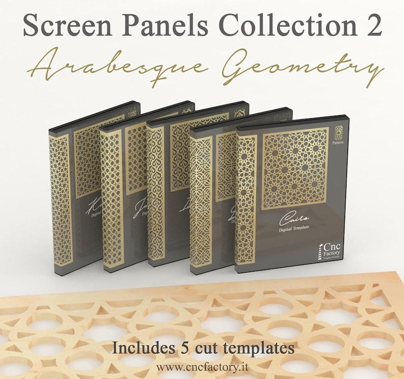 9123a2c74e1eb COLLECTION de panneaux écran 2 Arabesque géométrie Pack motif