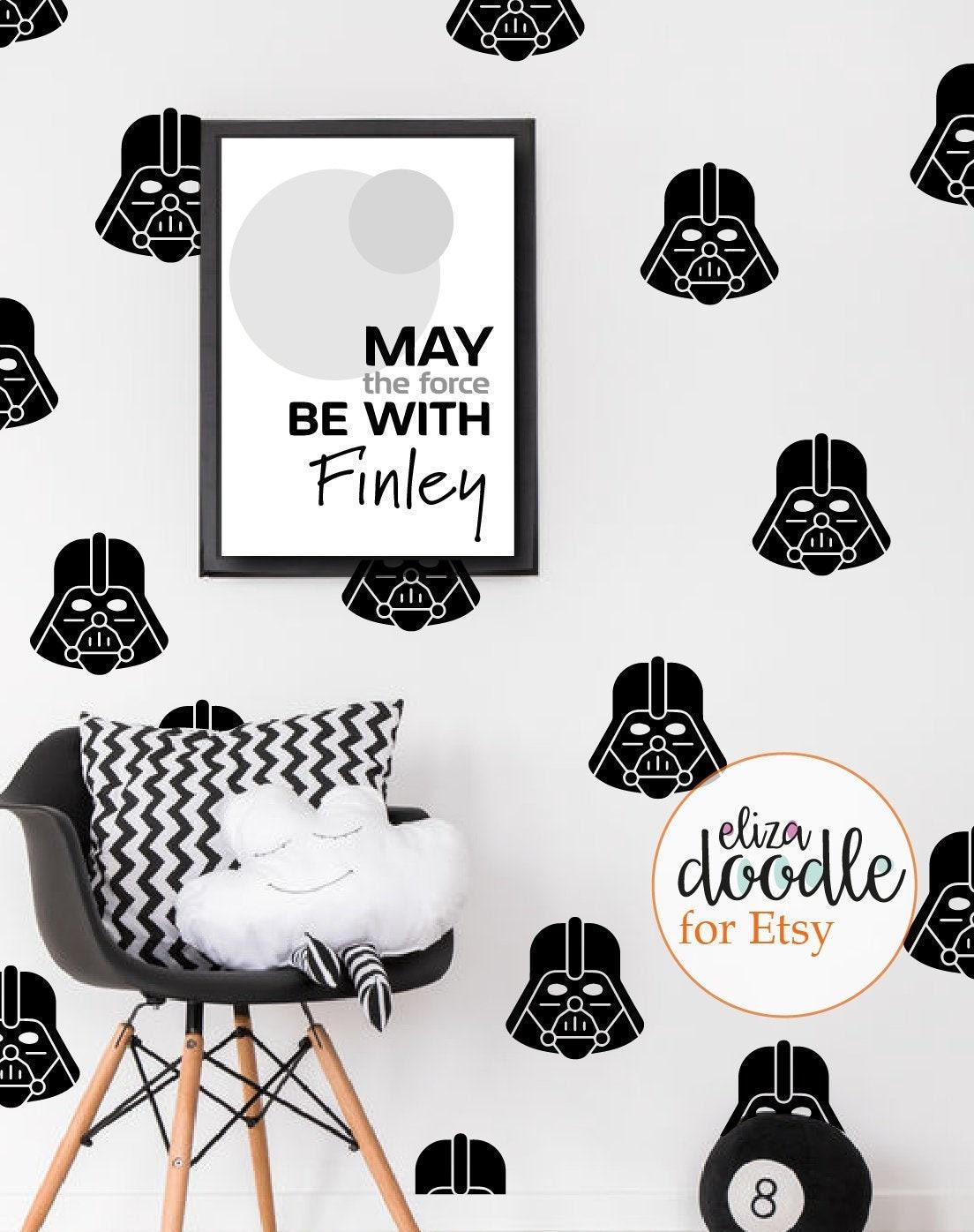 Darth Vader Wall Decals Darth Vader Masks Star Wars Wall Etsy