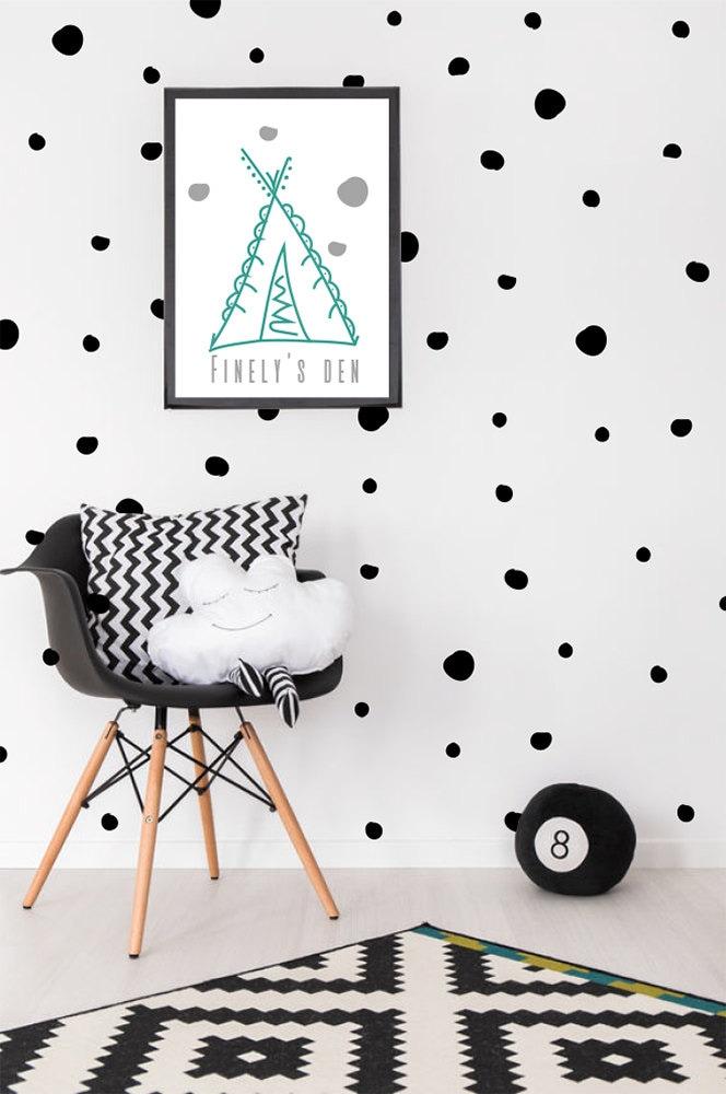 polka dot wall stickers vinyl decal dots decor spots etsy. Black Bedroom Furniture Sets. Home Design Ideas
