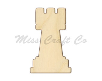 38688afd894 Chess Rook Wood Craft Shape