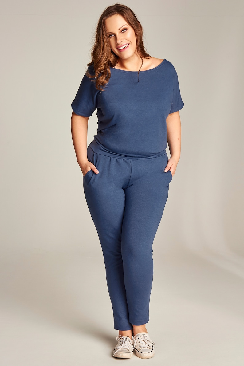 Overall - Plus Size Overall - Overall With Pockets - Overall Short Sleeves  - Cotton Overall - Plus Size Clothing - Overrals Overalls Women