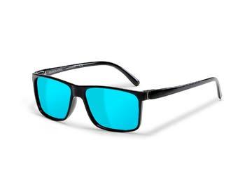 904b07760676 Sensolatino® Polarized Sunglasses Series Capri Shine Black Frame With Ice  Blue Polarized Lenses