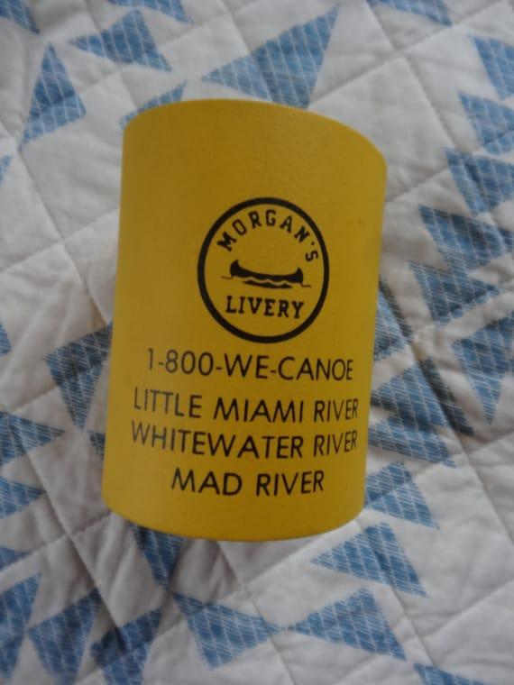 Morgan/'s Canoe Livery Little Miami Whitewater Mad River Yellow Plastic Foam Drink Holder Ohio