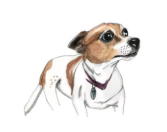 """Limited Edition Print: Jack Russell Terrier """"Sookie"""" (Dog-Friends Series)"""