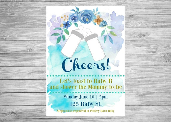 Cheers baby shower invitation baby bottle baby boy baby etsy image 0 filmwisefo