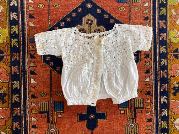 Antique Edwardian corset cover   1910s cotton lace