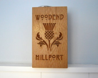 Solid Oak Doorstop, Fathers Day Gift, 5th Wedding Anniversary Gift, Wooden Doorstop, Personalised Wedding Gift, Engagement Gift