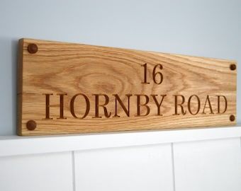 Wooden House Sign, Carved House Sign, Oak House Sign, Personalised Sign, House Warming Gift, New Home Gift, Custom House Sign,