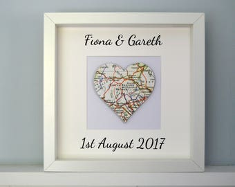Personalised Memory Map, Map Print,Personalised Message Memory Map, Engagement Gift, Wedding Gift, Map, Memory Map, Personalised Message