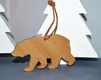 Californian Brown Bear, Christmas Tree Ornament, Christmas Decoration, Key Chain,
