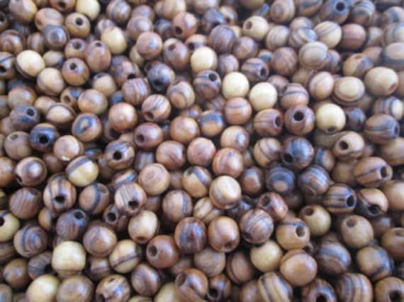 Top Quality Holy Land Olive Wood Various Sizes Round Beads Polished