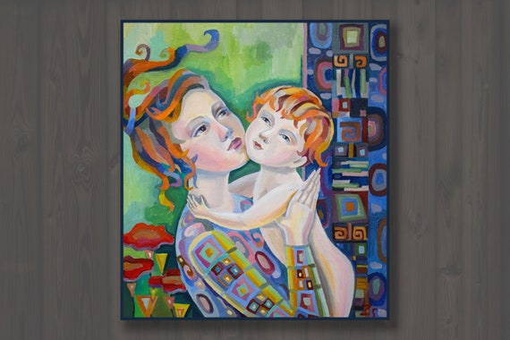 Painting Is Mom And Baby Gift For Mom Mother's Day Gift Etsy