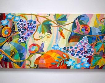Magic garden Oil painting of nature Oil painting on canvas garden oil painting Snails oil painting original art oil paintings on canvas