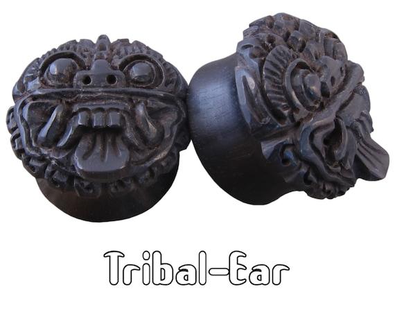 piercing plugs ebony balinesse  plug Tribal-Ear Body Ethnic ear gauge