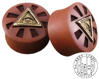 plugs brass illuminati sawo wood