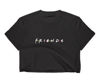 0575e84f98b Friends Logo Crop Top T-Shirt