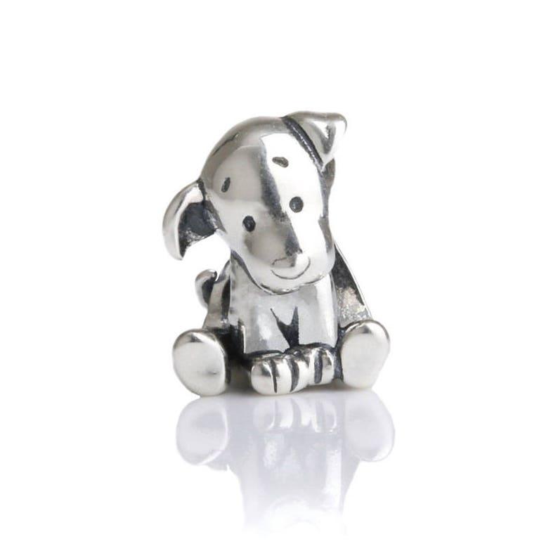 604c77fb7 Puppy Sterling Silver Aurora Charm Bead S925 Cute Dog Puppy | Etsy