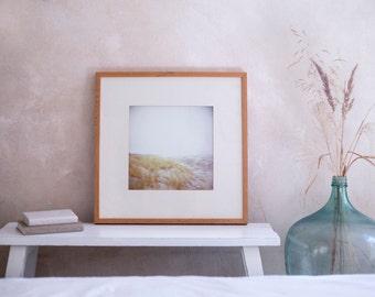 Kunstdruck Dünen, analoge Fotografie Strand, handsigniert in 22.5 x 22.5 cm
