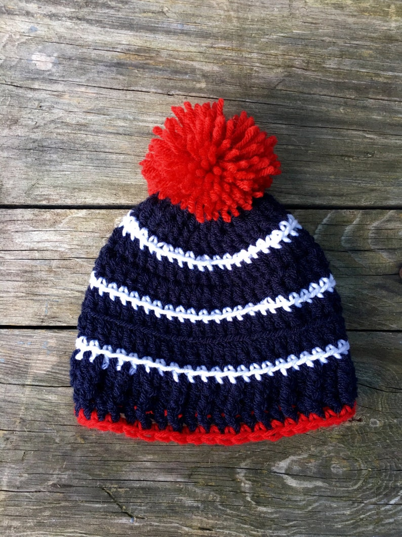 ce2fc9c8bf5 PREPPY TODDLER HAT red white and blue striped baby beanie