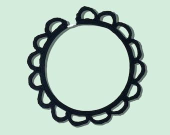 Fashion Jewelry / Black Fiber Necklace
