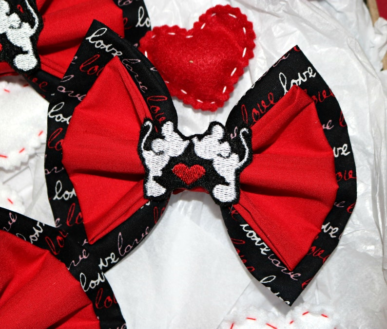 Valentine/'s Day Heart Love Bow for Interchangeable Ears