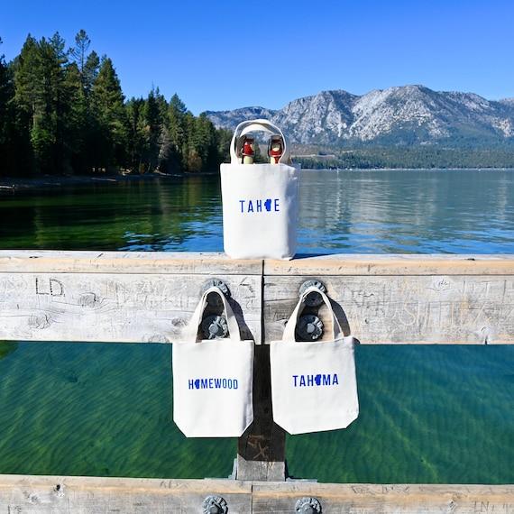 Two Bottle Wine Tote Lake Tahoe Customizable Etsy
