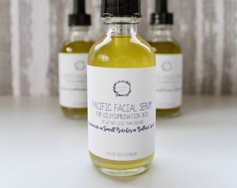 Facial Serum for Oily/Combination Skin - Vegan Skin Serum, Facial Serum, Facial Oil Beauty Oil, Natural Serum, Oily Skin Serum