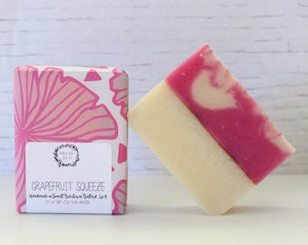 Grapefruit Soap: Bar Soap, Handmade Soap, Vegan Soap, Cold Process Soap, All Natural Soap, Essential Oil Soap