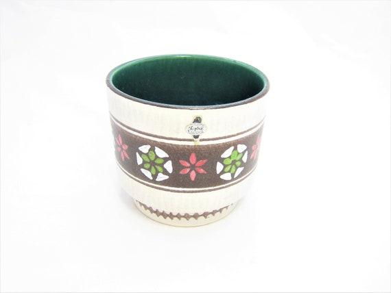 ceramics years 60-70 mid century Cute vintage flowerpot