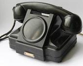 Soviet phone 1954. Soviet telephone. Vintage phone. Vintage telephone. Rotary Dial Phone. Black rotary phone
