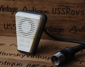 Small Vintage Soviet microphone , mouthpiece USSR, metal transmitter, vintage mike, russia,christmas gift,gift idea