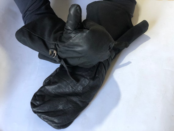 Soviet winter aviator gloves , Vintage military gl