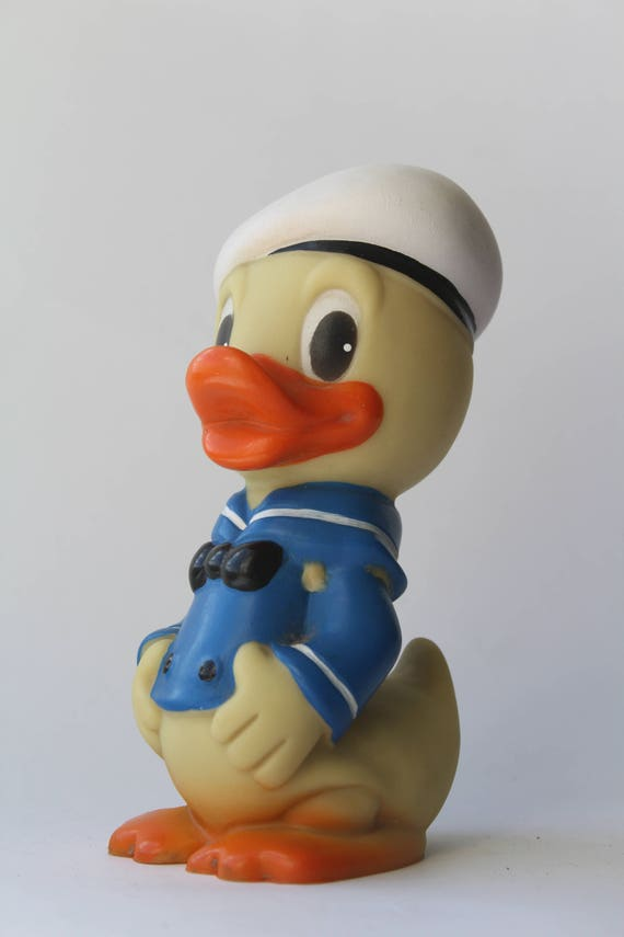 Vintage Soviet Scrooge McDuck Disney DUCK Rubber Toy USSR