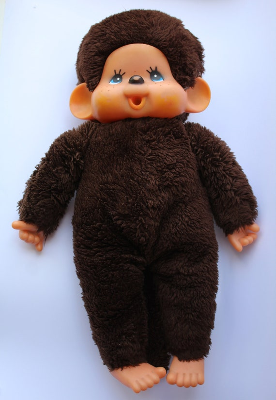 Soviet Monkey Toy  Rare 1950/'s USSR Kitsch Animal Nursery Toy  Cute Collectable Mid Century Brown Smiling Monkey Lady Grey Hair /& Dress