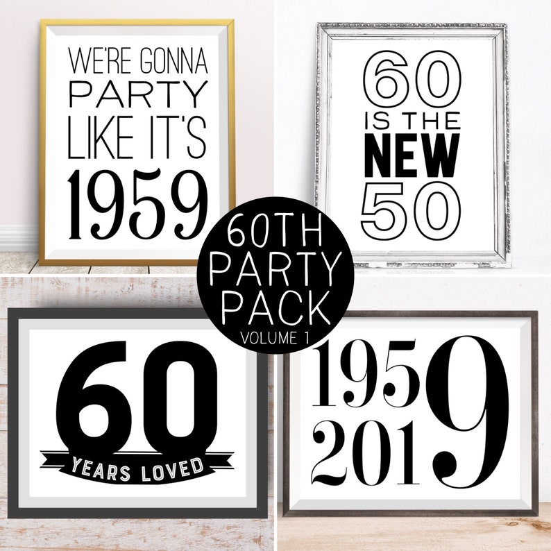 Digital Prints 60th Birthday Party