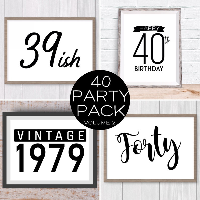 Digital Prints 40th Birthday Party