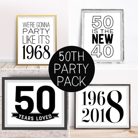 Digital Prints Happy 50th Birthday
