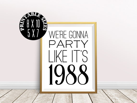 Digital Prints 31st Birthday Decorations