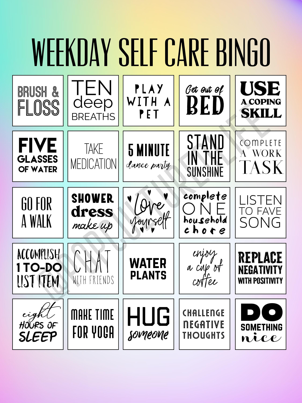 Digital Prints - Self Care Bingo - Premade Bingo Cards - Printable Bingo  Cards - Mental Health Awareness - Self Care Printable - Anxiety