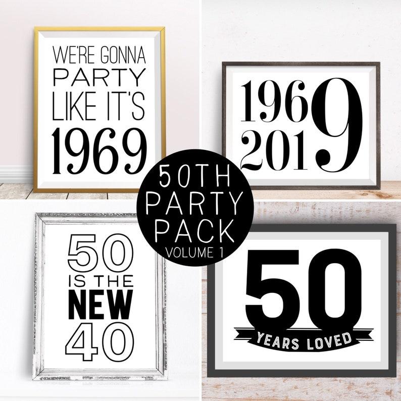 Digital Prints 50th Birthday Party