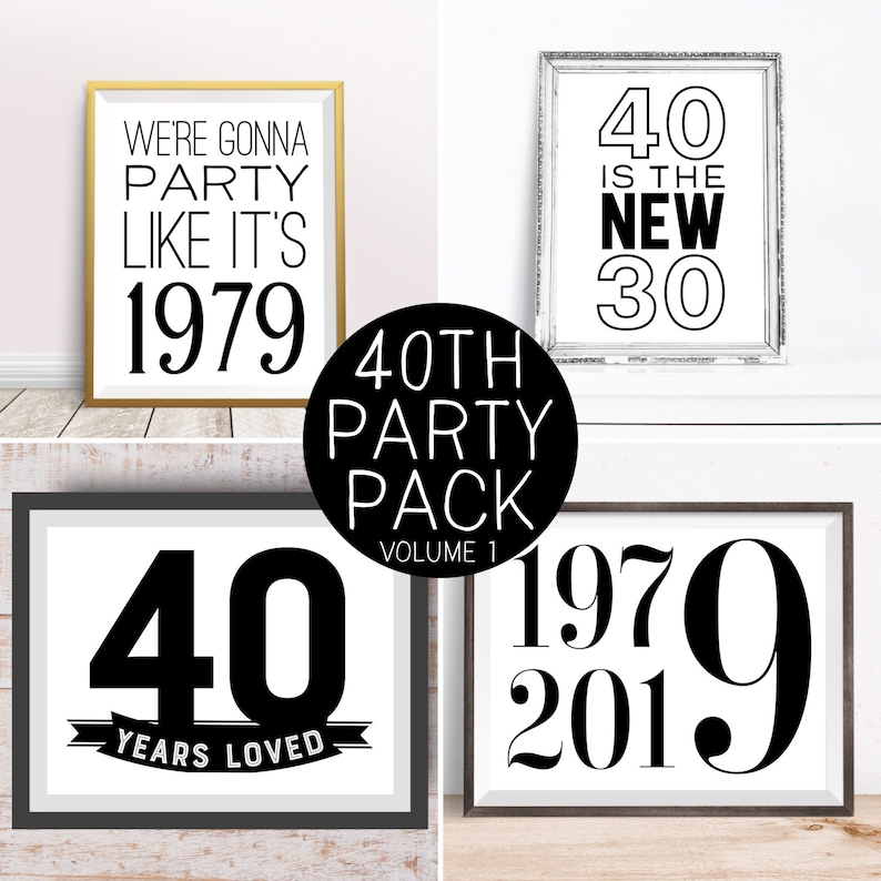 Digital Prints 40th Birthday Party