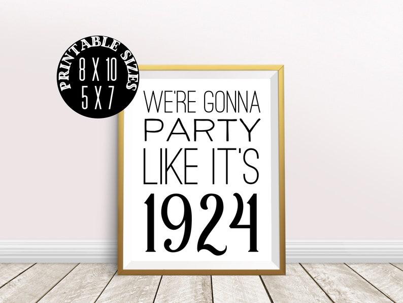 Digital Prints 95th Birthday Party