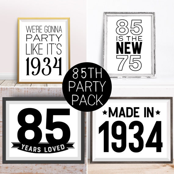 Digital Prints 85th Birthday Party