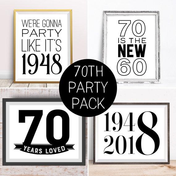 Digital Prints Happy 70th Birthday Party