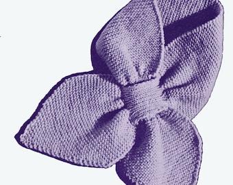 Vintage 1950's Keyhole Knit Scarf Pattern